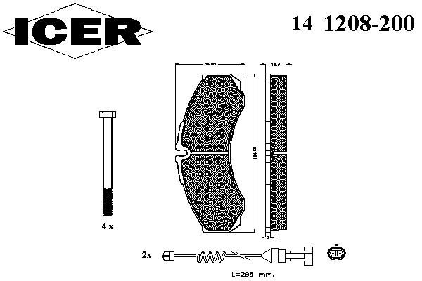 Klocki hamulcowe - komplet ICER 141208-200